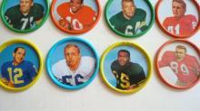 7 1962-63 Salada Tea 1 Junket Brand Football Coins