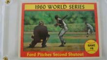 1961 TOPPS Ford Pitches 2nd Shutout Card NM+