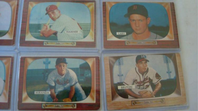 13 1955 Bowman Baseball Cards 6 High No Vg