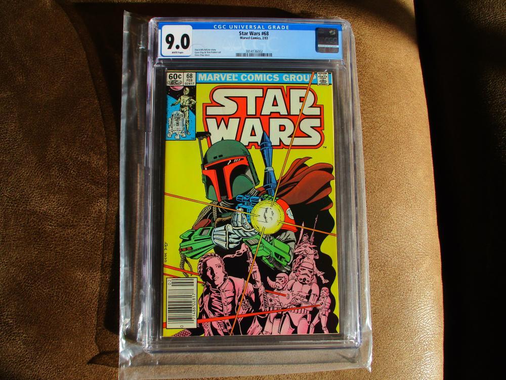 Star Wars #68 - Boba Fett Yoda Jedi Mandalorian Marvel CGC 9.0