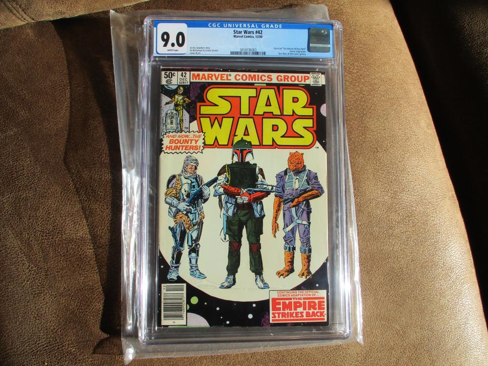 STAR WARS # 42 MARVEL COMICS GRADED 9.0 BOBA FETT