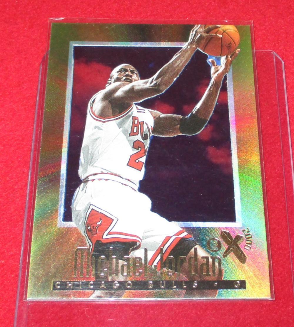 1996-97 Skybox E-X2001 #9 Michael Jordan Chicago Bulls HOF