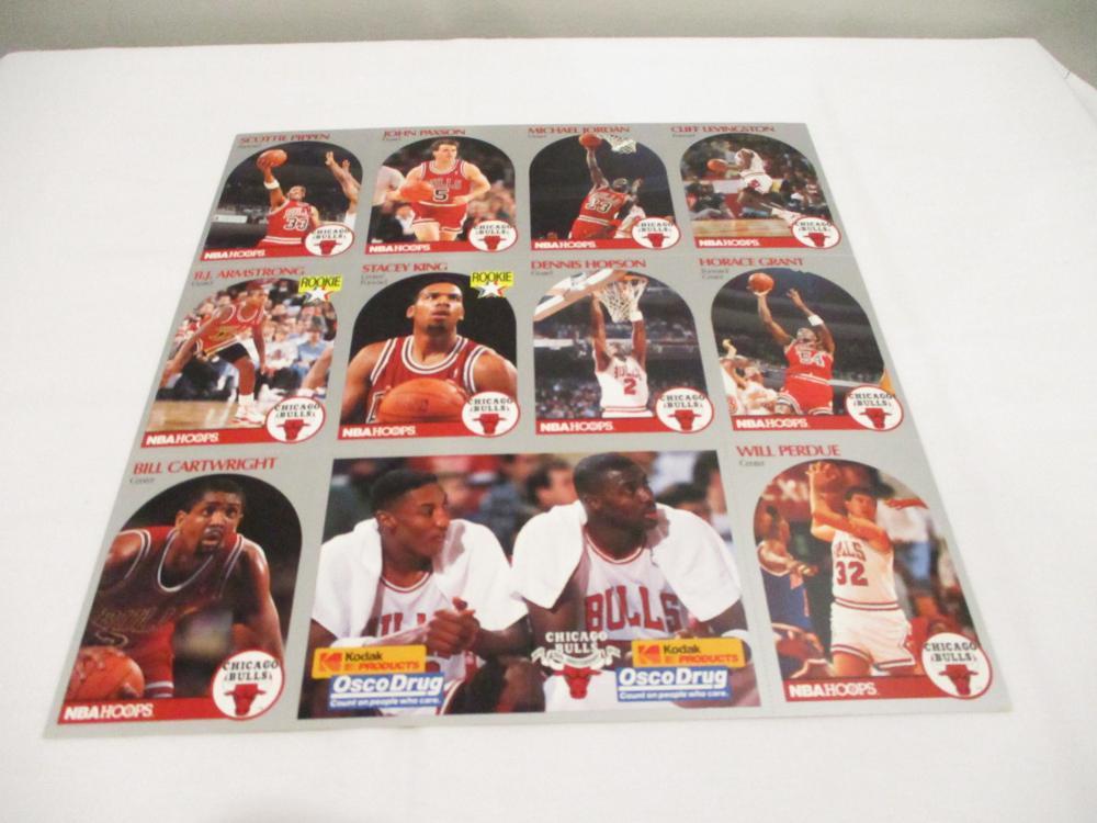1990-91 Michael Jordan NBA Hoops Chicago Bulls Jewel Osco Kodak Team Set