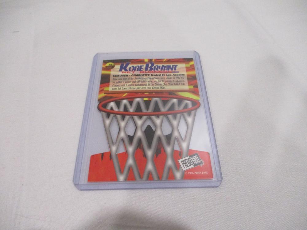 1996 Press Pass Net Burners #13 Kobe Bryant Rookie Card