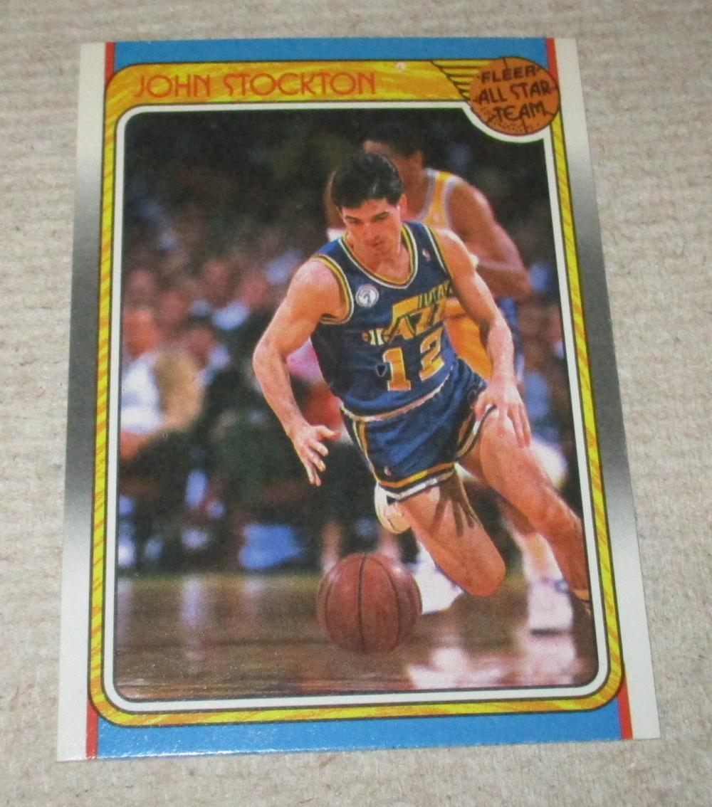 1988 FLEER JOHN STOCKTON ROOKIE ALL STAR CARD