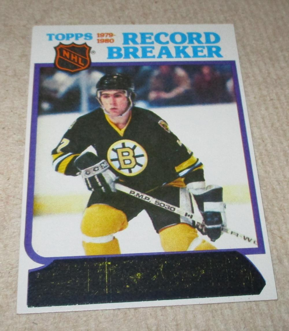 1980 Topps Hockey Record Breaker Ray Bourque #2