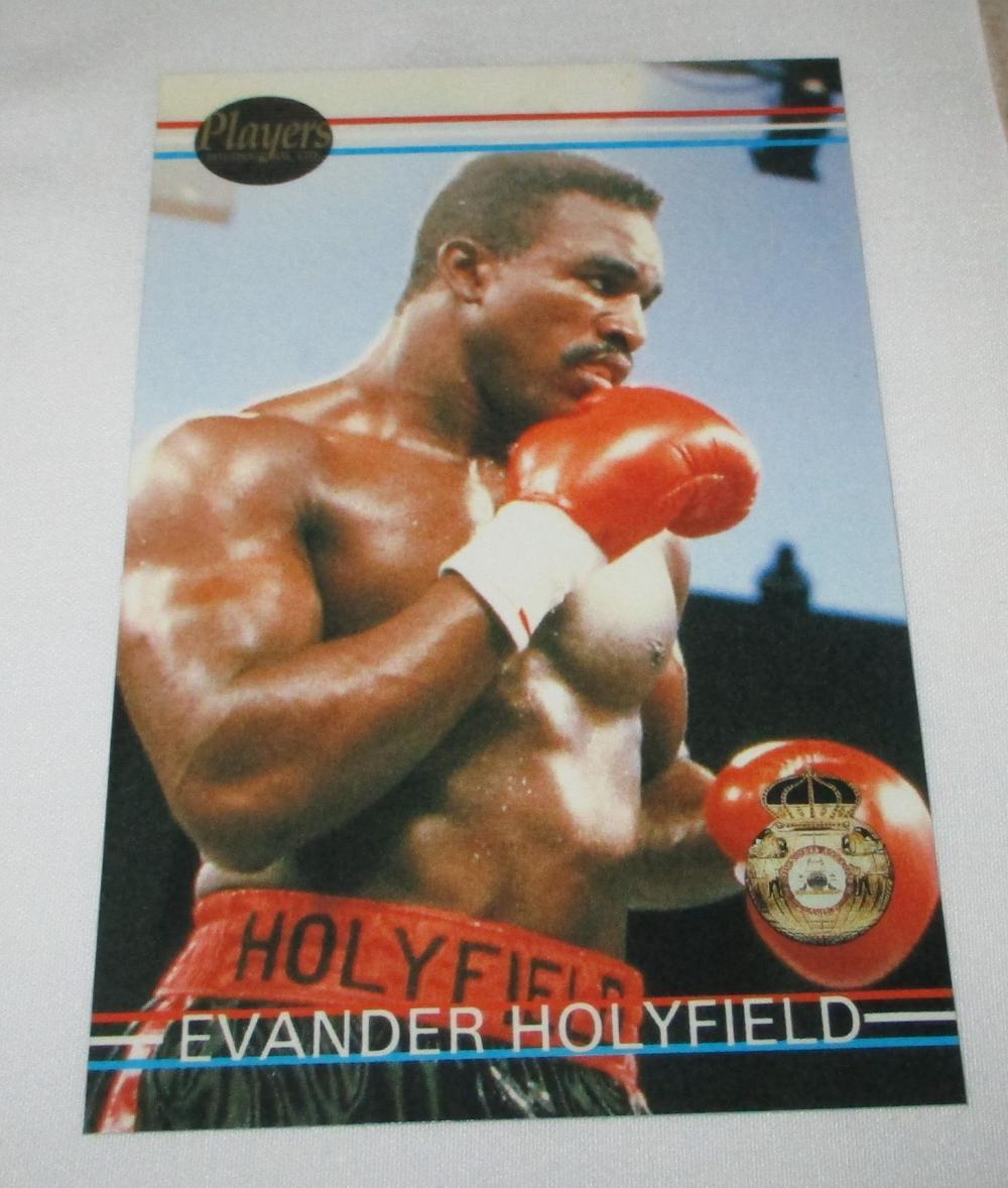 1991 Ringlords #1 Evander Holyfield Promo Card -- Boxing HOF