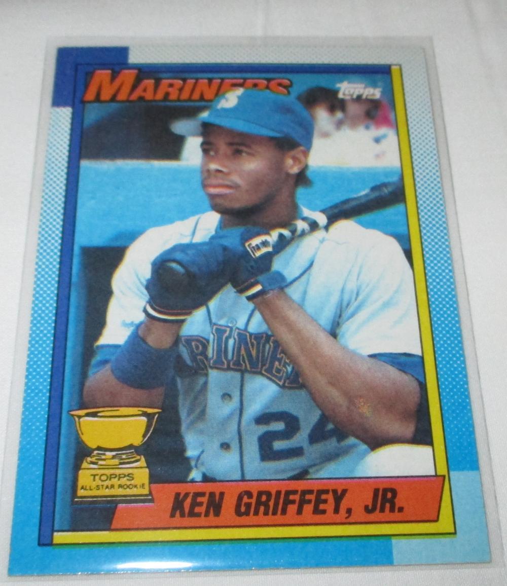 1990 TOPPS KEN GRIFFEY BLOOD ERROR ROOKIE CARD
