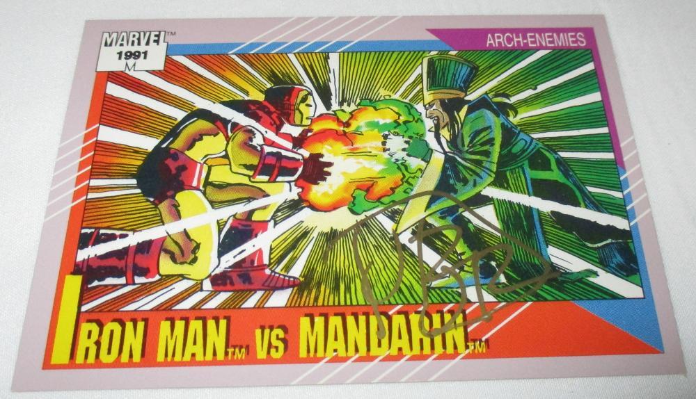 1991 MARVEL IMPEL IRON MAN MANDARIN SIGNED BY ROMITA JR