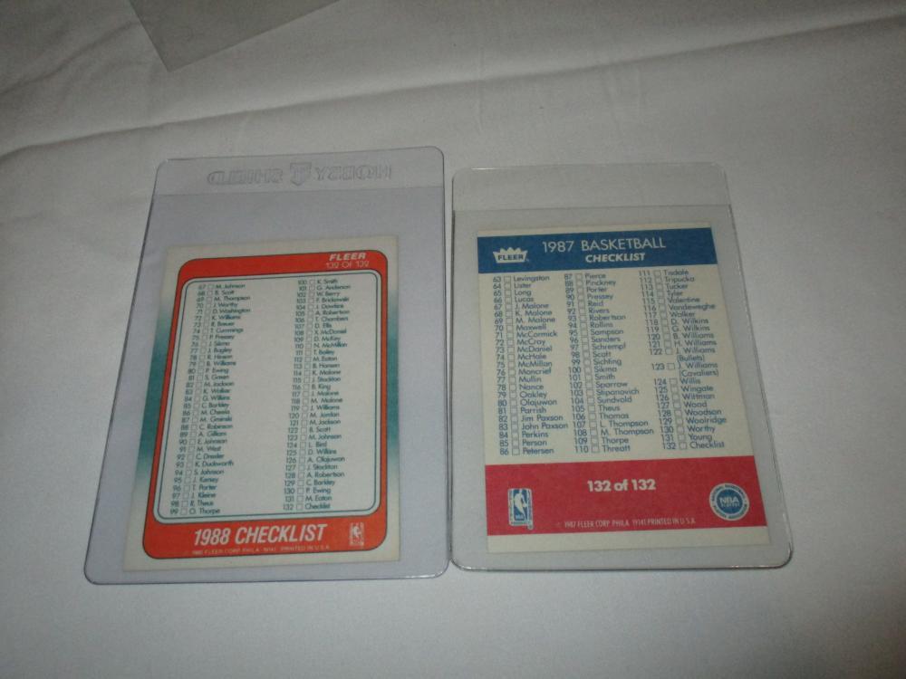 1987 & 1988 FLEER BASKETBALL CHECKLIST