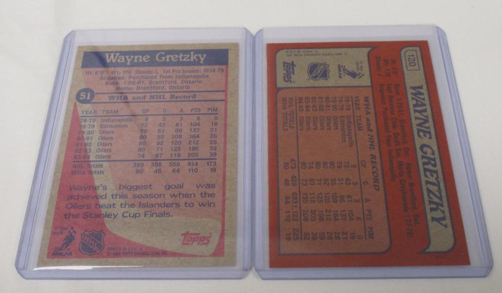 2 CARD WAYNE GRETZKY HOCKEY CARD LOT