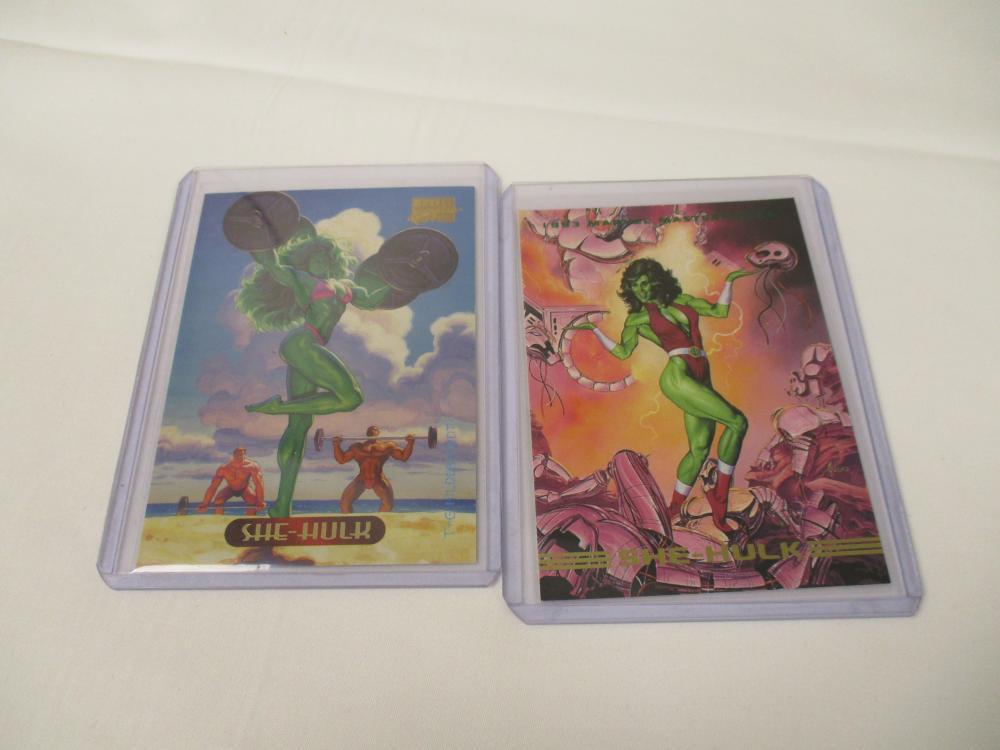 1993 Marvel Masterpieces She-Hulk Card & 1994 SHE-HULK