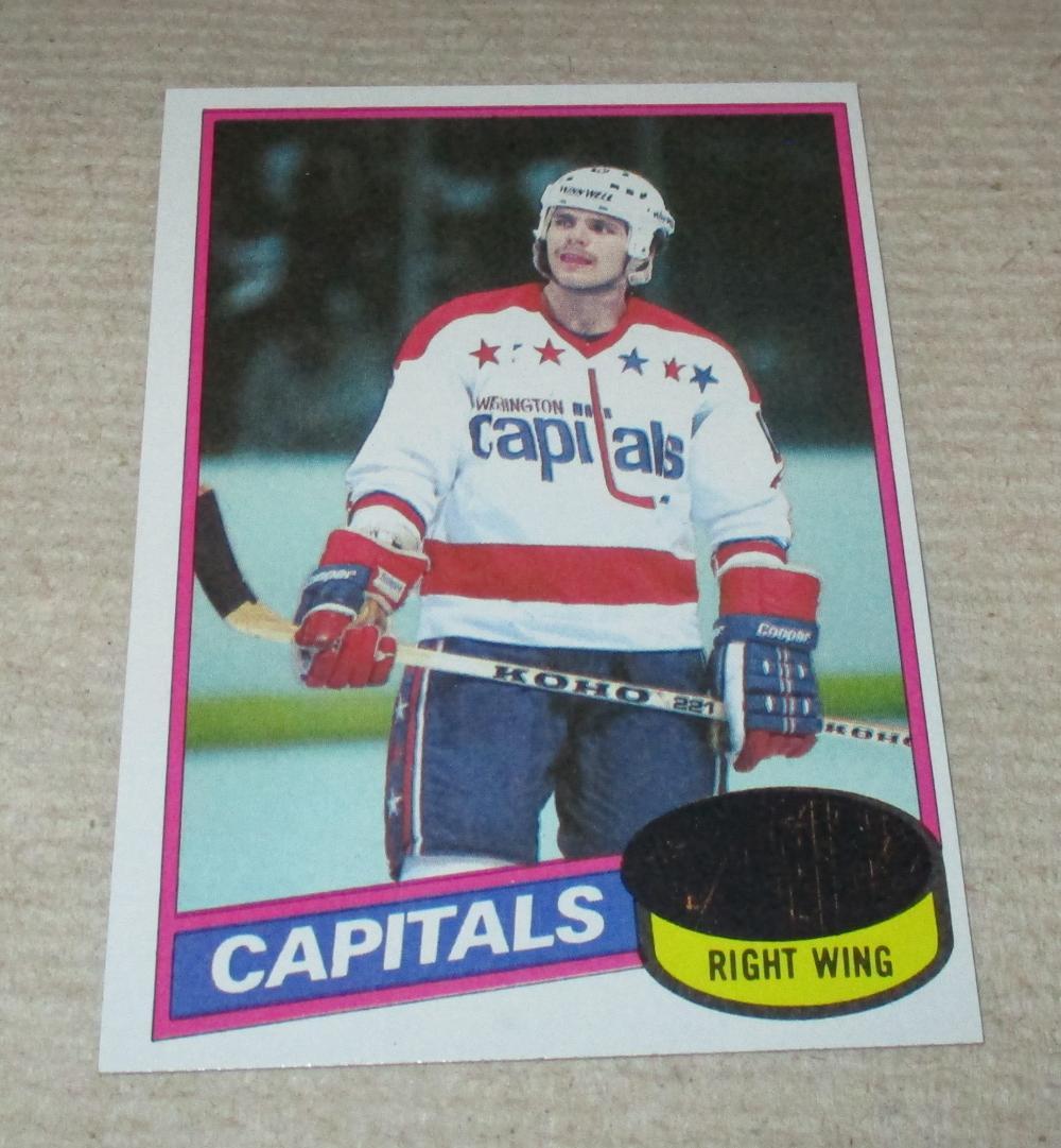 1980-81 Topps Mike Gartner hockey card #195 Capitals ROOKIE