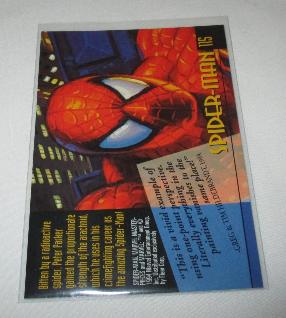 1994 Marvel Masterpieces #115 Spider-Man.