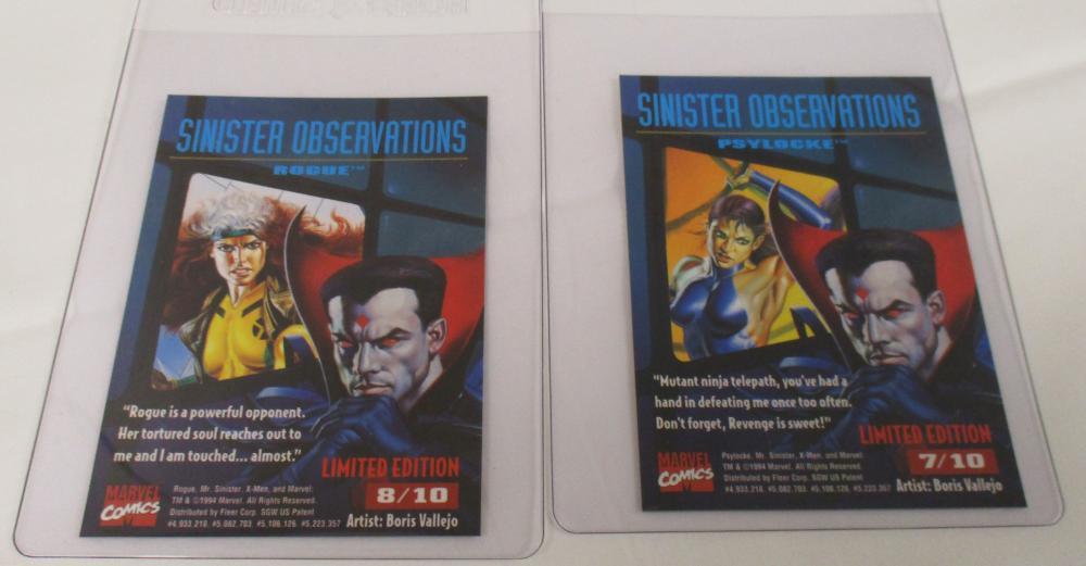 1995 Fleer Ultra Sinister Observations Chrome Lot Of 2