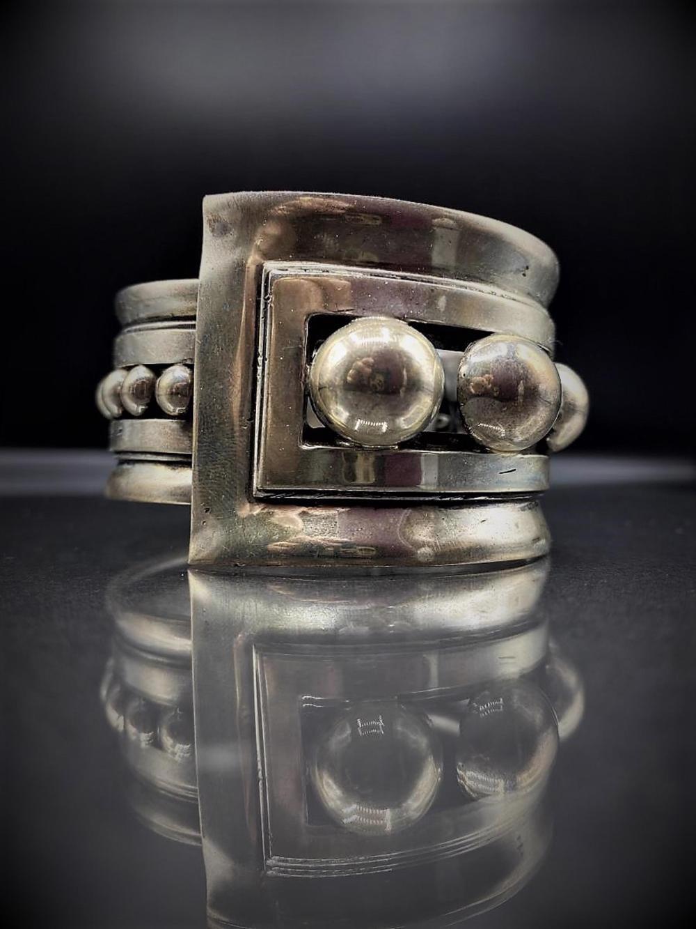Vintage Signed Rafael Melendez Sterling Bracelet