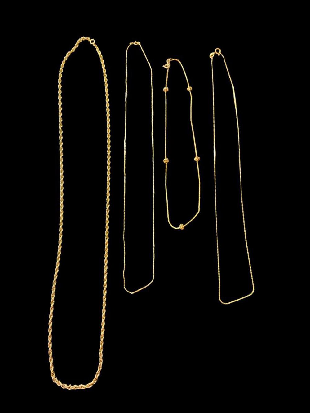 4pc 14K Gold Chains
