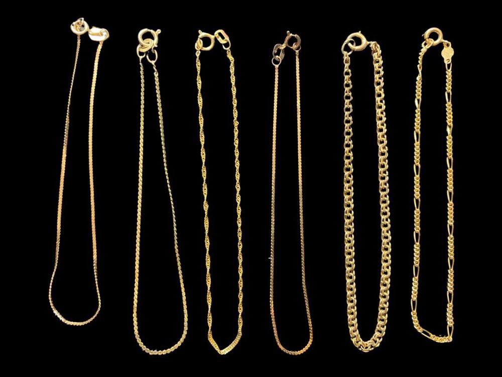 6pc 14K Gold Estate Bracelets
