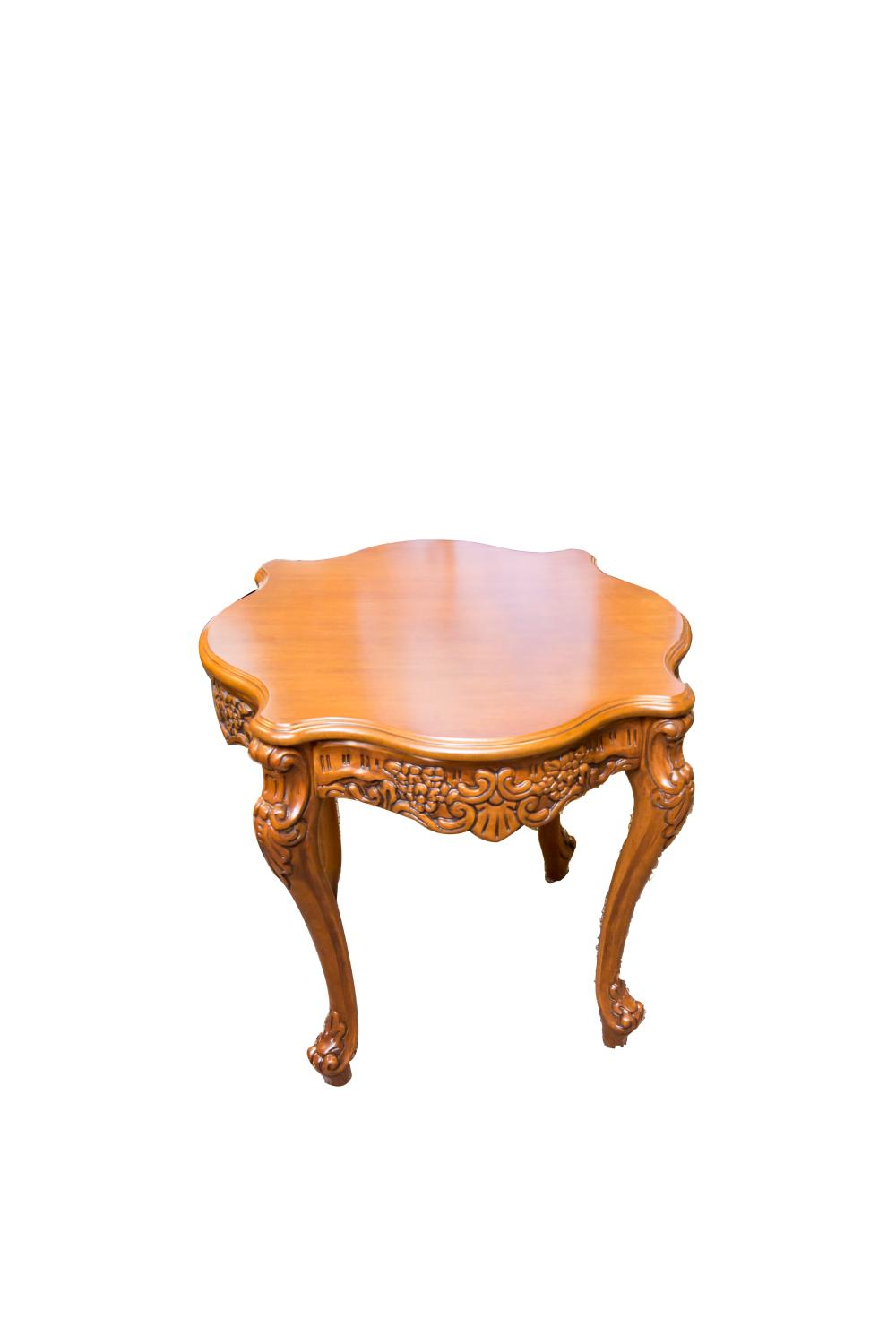 Maple Wood Coffee Table.Solid Carved Maple Wood French Provincial 3 Piece Set Of Tables