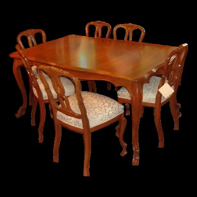 10 Piece French Provincial Solid Carved Wood Dining Set