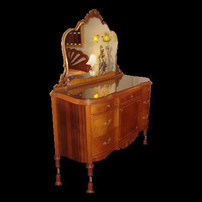 Antique 1930's Marquetry Inlay 6 Piece Bedroom Set