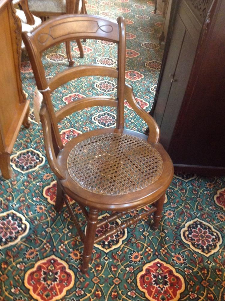 Antique Hand Caned Chairs