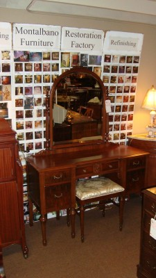 Antique Vanity and Mirror