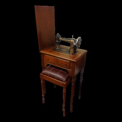 Antique Sewing Machine and Console