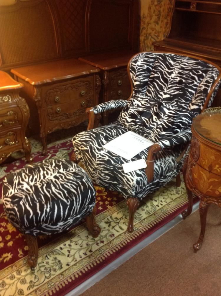 Antique Occasional Chair and Ottoman