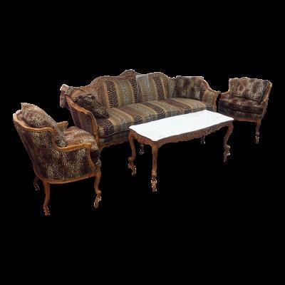 Antique 3 Piece French Provincial Living Room Set
