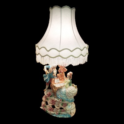 Capodimonte Lamp and Shade