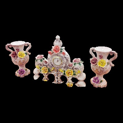 Capodimonte 3 Piece Set Centerpiece