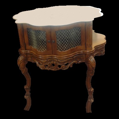 Solid Carved Maple Wood Drum Table
