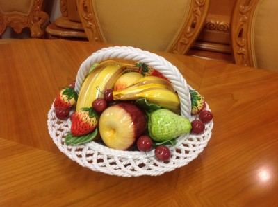 Capodimonte Fruit Bowl/Basket