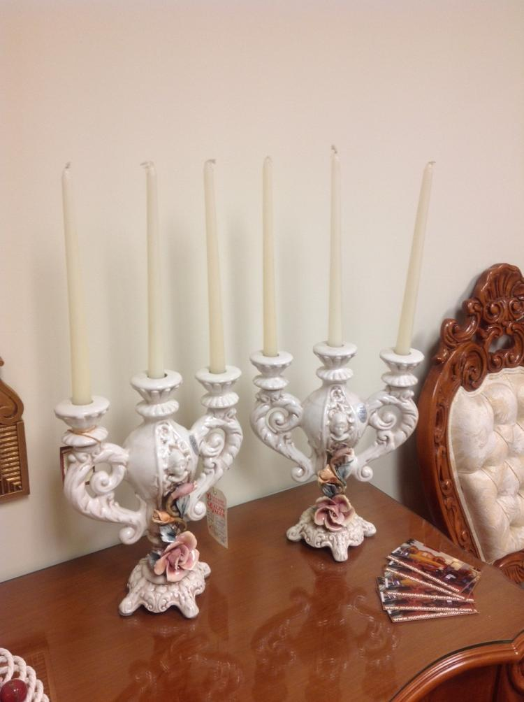Pair of Genuine Capodimonte Candelabras