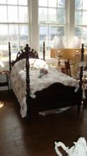 Antique Twin Victorian Poster Bed