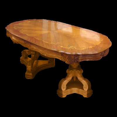 Carved Wood French Provincial Dining Table