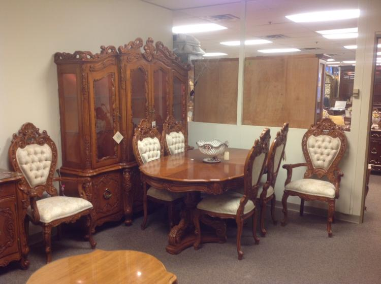 Carved Wood French Provincial Dining Room Set