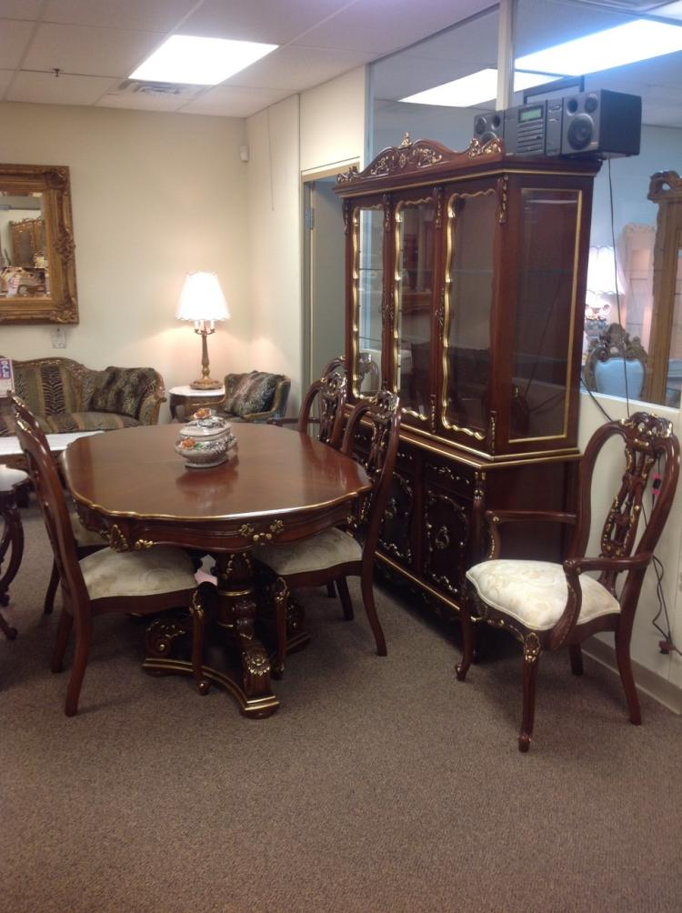 french provincial dining room | Carved Wood French Provincial Dining Room Set