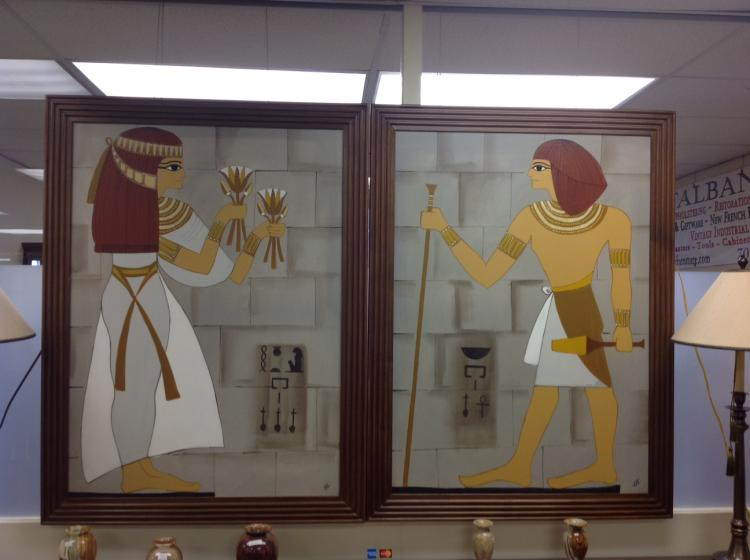 Pair of Framed Egyptian Art