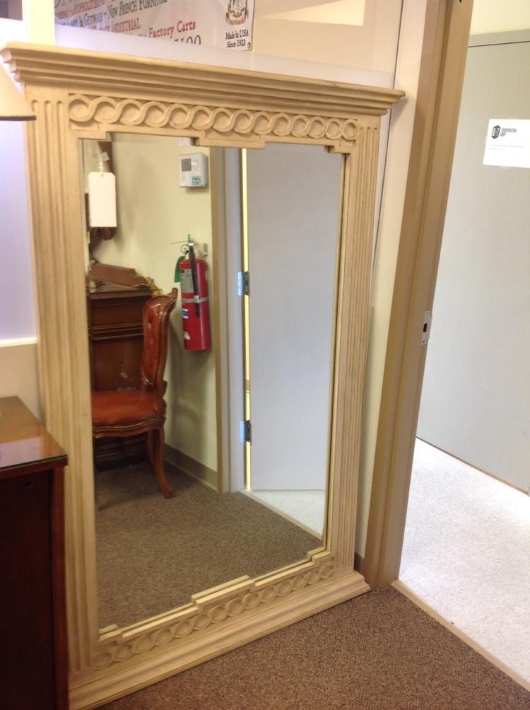 Solid Wood Floor Mirror