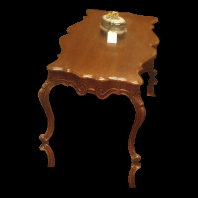 Solid Carved Maple Wood French Provincial 2 Piece Set of Tables