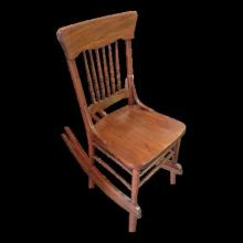Antique Spindle Victorian Rocker