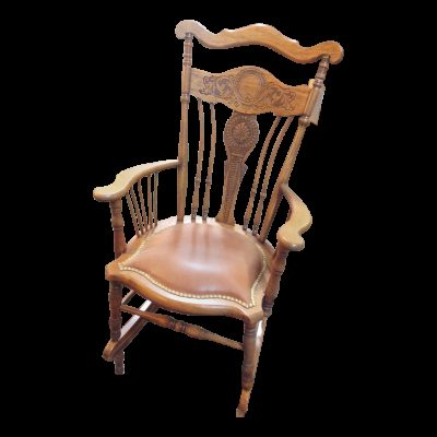 Antique Carved Wood Rocking Chair
