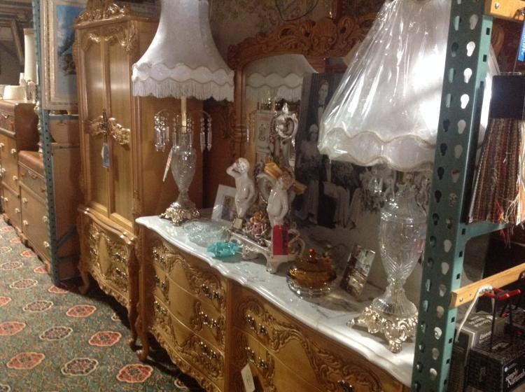 Carved Wood French Provincial Bedroom Set