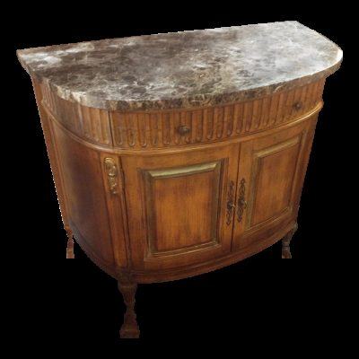 Carved Wood French Provincial Bombe Chest of Drawer/Doors