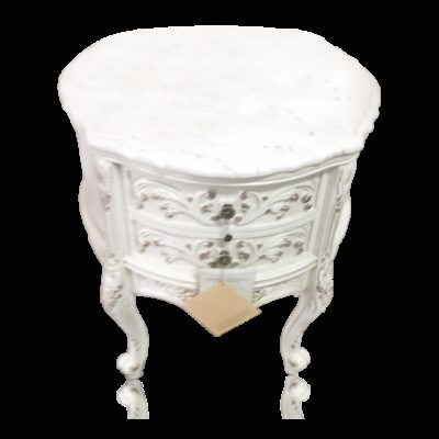 French Provincial Commode with Drawers and Genuine Marble Top
