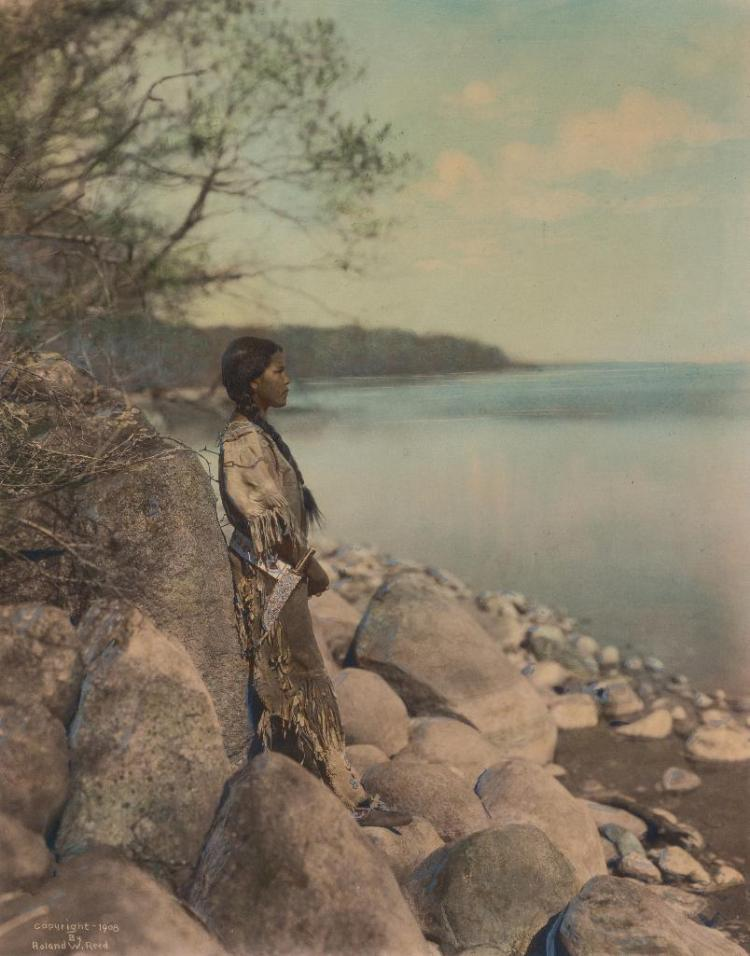 Roland Reed, hand-colored photograph