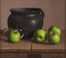 William Acheff, oil on canvasboard