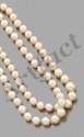 Ensemble de deux colliers de perles de culture,